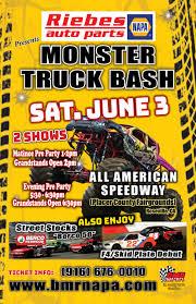 monster truck racing schedule tickets monster truck bash june 3 bmr napa