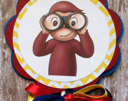 Curious George Centerpieces by Curious George Cake Topper Etsy