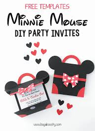 diy minnie mouse party invitation with free pattern bugaboocity