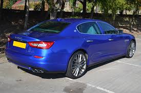 maserati quattroporte 2015 blue maserati quattroporte wrapped in cosmic blue reforma uk