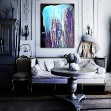 buy picture falling asleep 1 abstraction lilac blue paint on