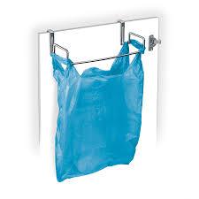Over The Door Cabinet Organizer by Lynk Over Cabinet Door Organizer Plastic Bag Holder Chrome