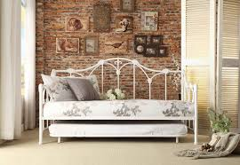 Bedroom Ideas Brick Wall Bedroom Some Grey Cushion Design With Full Daybed And Brown