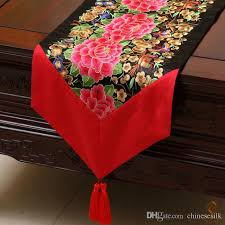 luxury damask table runner new style luxury fine embroidered patchwork dinner party table