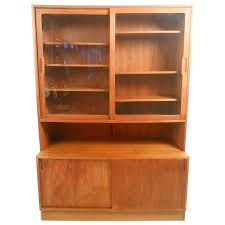 Modern Curio Cabinets Mid Century Modern Danish Teak Curio Cabinet For Sale At 1stdibs