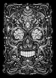 Skull Area Rug Sugar Skull Psychedelic 5 U0027x7 U0027area Rug Kitchen U0026 Dining