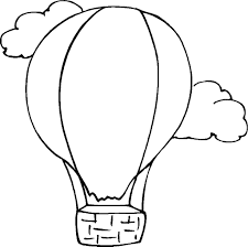 free printable air balloon coloring pages for kids