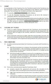 franchise agreement template for australian franchises