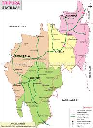 Blank India Map With State Boundaries by Tripura Map Tripura State Map