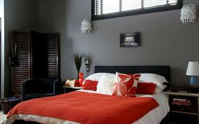 Bedroom With Red Accent Wall - bedroom in gray u2013 88 bedrooms with significant presence of gray
