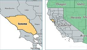 california map in us sonoma county california map of sonoma county ca where is