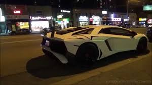 lamborghini aventador on the road lamborghini aventador sv on the road in toronto