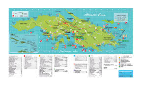 map of united states including us islands large travel map of st island us islands us