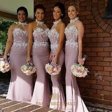 light pink halter dress light pink halter long bridesmaid dress with floral applique bodice
