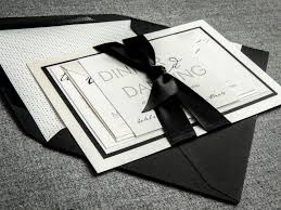 Formal Invitations Black And White Invitations Calligraphy Wedding Invitation