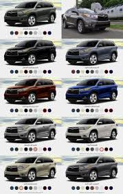 colors for toyota highlander 2017 toyota highlander release date changes and price car