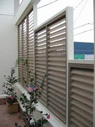 Outdoor Solar Shades For Patios Patio Fixed Blade Privacy Screen U2013 Shutters And Screens Solar