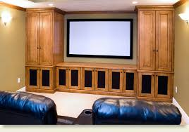 Media Room Built In Cabinets - custom cabinets and built ins lone star remodeling