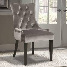 Arm Chair Gray Dining Chairs  Benches Kitchen  Dining Room - Grey dining room chairs