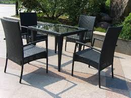 Best Outdoor Wicker Patio Furniture Outdoor Wicker Dining Table With Glass Top Best Gallery Of