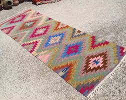 Colorful Aztec Rug Rug Runners Etsy
