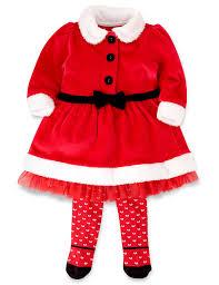 santa claus costume for toddlers 2 piece cotton rich mrs santa dress u0026 tights m u0026s