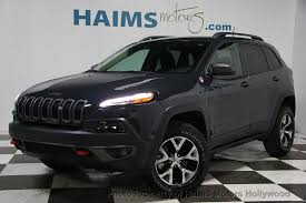 jeep cherokee gray 2017 2017 used jeep cherokee trailhawk 4x4 at haims motors serving fort