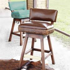 bar stools bar stools with backs and swivel back also cowhide