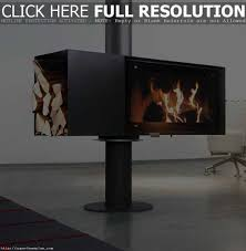 modern freestanding fireplace wood burning fireplace unique and