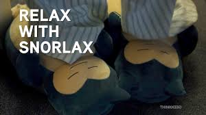 Pokemon Snorlax Bean Bag Chair Relax With Snorlax From Thinkgeek Youtube
