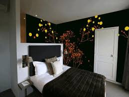 bedroom interior design inspiration elegant brown wooden wall