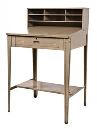 Industrial Writing Desk by Vintage Industrial Painted Steel Stand Up Factory Foreman Desk