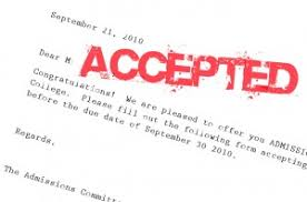 How Does College Acceptance Letter Look Like Jumping Into American College Stratford Usa