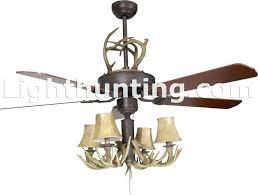 Deer Antler Ceiling Fan Light Kit Deer Horn Ceiling Fan Rustic Faux Antler Ceiling Fan Deer Horn