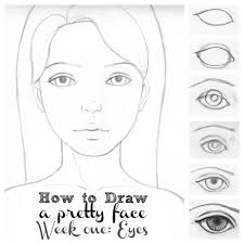 drawing a face eyes collage1 dibujos con lápiz pinterest