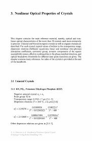 nonlinear optical properties of crystals springer