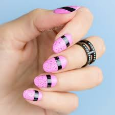 2 mixed media easy nail designs nail art tutorial