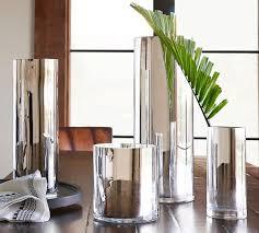Silver Vases Monroe Vases Silver Pottery Barn