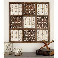 Home Depot Decorative Wall Panels 36 In X 36 In Rustic Mango Wood And Iron Decorative Bells Square