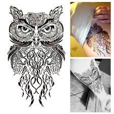 cute owl tattoo flash