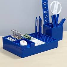 Blue Desk Accessories Poppin Cobalt Modern Desk Accessories Cool Office Supplies
