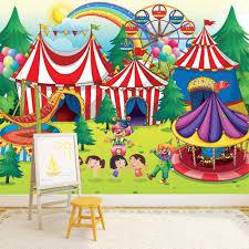 chambre cirque cirque papier peint parc des expositions papier peint salle de jeux
