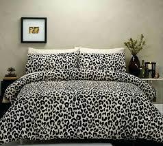 lifelike 3d snow leopard bedding set queen size pure cotton animal