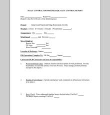 daily work report template daily work report images
