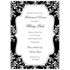 formal floral black retirement invitations paperstyle