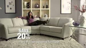 Living Room Furniture Ideas Sectional Decorating Palliser Miami Leather Sectional Sofa In Black For