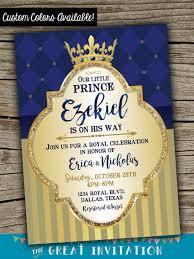 prince baby shower prince baby shower invitation royal celebration invitation
