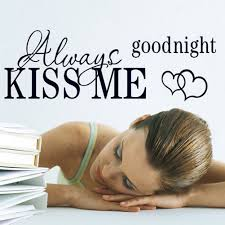aliexpress com buy 1pc sentences kiss me good night wall aliexpress com buy 1pc sentences kiss me good night wall stickers family wall sticker phrases house decoration wall decals quotes decoracion lovely from