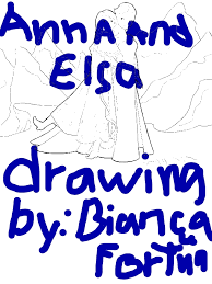 anna elsa standing side side coloring download
