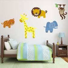 safari animal wall stickers by mirrorin notonthehighstreet com safari animal wall stickers